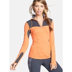 Nordstrom Zella Half-Zip Pullover Top Orange XS